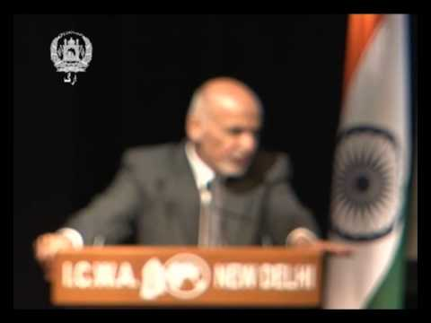 President Ghani's remarks at Indian Council of World Affairs , New Delhi, India