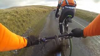 Greyhound Pub Clayton Le Moors is the base for a Pendle road training ride on a Mountain bike.