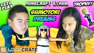 Lets Play SUMOTORI DREAMS & Unbox November 2015 LOOTCRATE with Minecraft Ethan, Emma & Aubrey