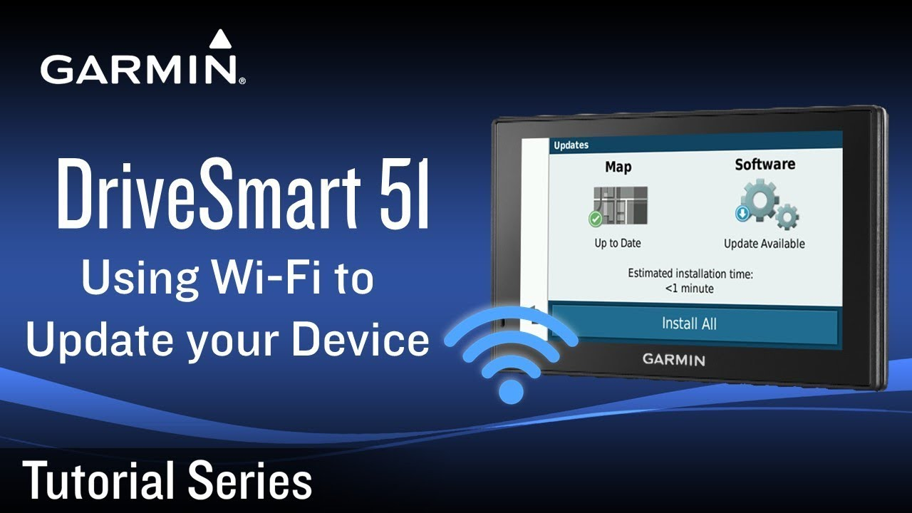 Tutorial - Garmin DriveSmart 51: Use Wi-Fi to Update your Device
