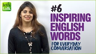 8 Inspiring English Words For Daily English Conversation | English Vocabulary Lesson | Niharika