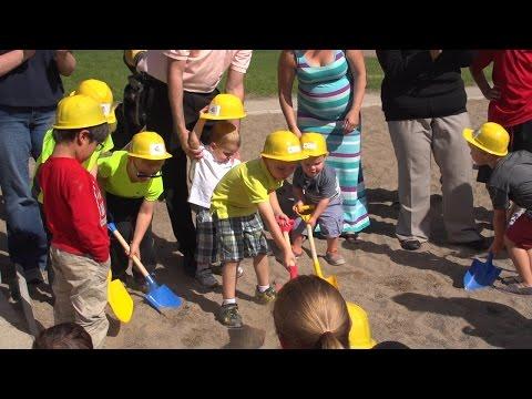 UND University Children's Learning Center Breaks Ground on Outdoor Classroom/Playgrounds (2015)