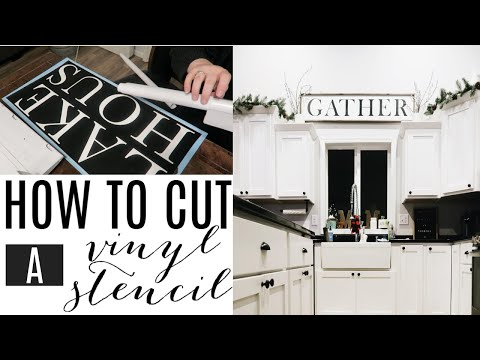 DIY FARMHOUSE STYLE SIGN | HOW TO MAKE A VINYL STENCIL | CRICUT EXPLORE AIR
