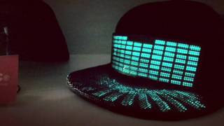 New LED Hat - Light Up Snapback - Future LED Cap Equalizer Style BBOY Freestyle Hat Dancer Hat