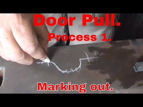 Forging a door pull. Process1. Marking Out
