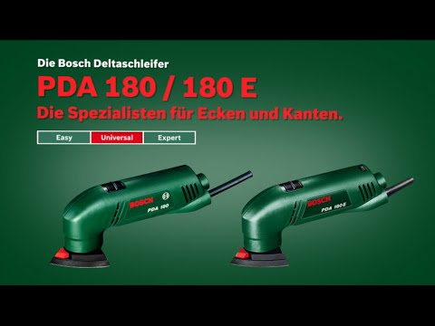 bosch stellt vor deltaschleifer pda 180 und pda 180 e youtube. Black Bedroom Furniture Sets. Home Design Ideas