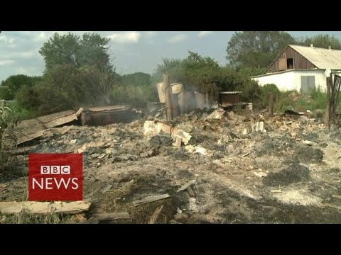 Mystery shelling of Ukraine village - BBC News