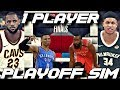 EVERY TEAM HAS 1 PLAYER IN THE 2018 PLAYOFF SIMULATION ON NBA 2K18!!!