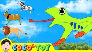 한국어ㅣ배고픈 청개구리 이야기 5! 어린이 동물 만화, 동물이름 외우기ㅣ꼬꼬스토이
