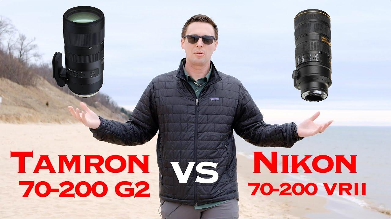 Tamron 70 200 G2 Vs Nikon VRII Autofocus Test - YouTube