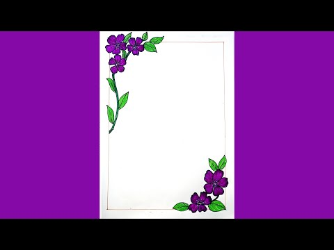 How To Draw Flower Corner Border Design For Page Design