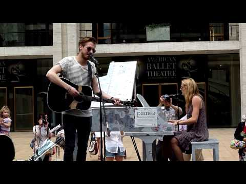 Arthur Darvill, Joanna Christie performing Falling Slowly for Sing For Hope at Lincoln Center