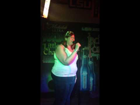 Girl Rapping Karaoke at Gay Bar
