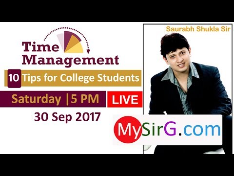 Time Management Tips for College Students | LIVE  (in Hindi)