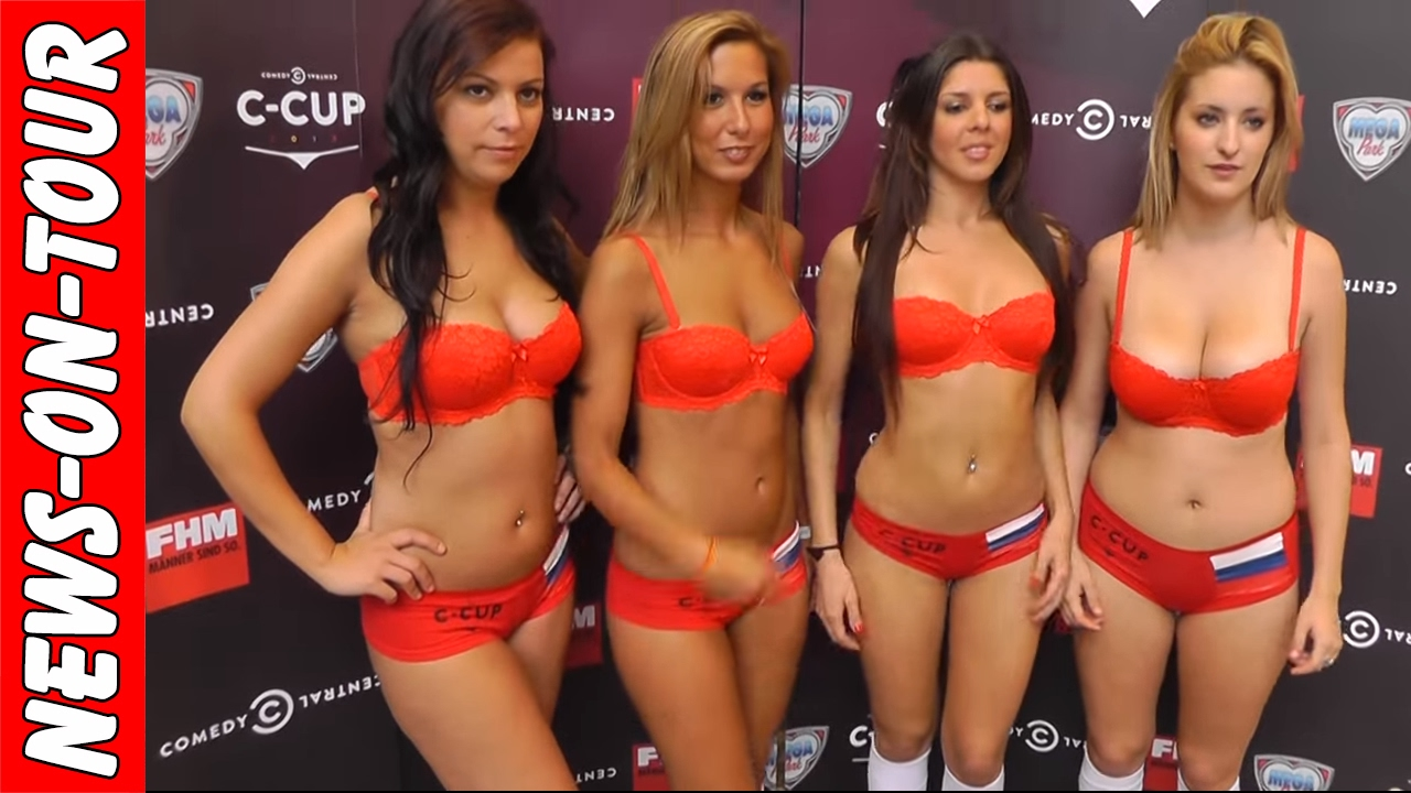 Sexy Ukraine Football Girls Posing In Underwear  C-Cup -4648