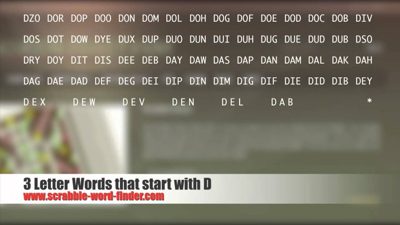 four letter words that start with z 3 letter words that start with d 21818 | maxresdefault