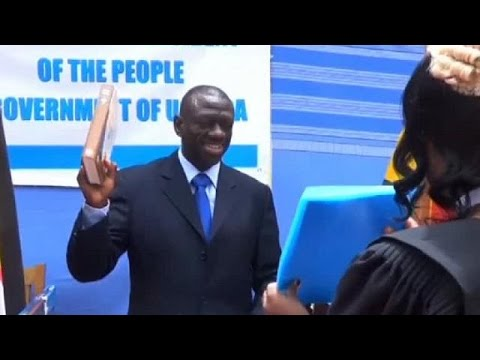 Uganda's opposition leader arrested after swearing himself to office