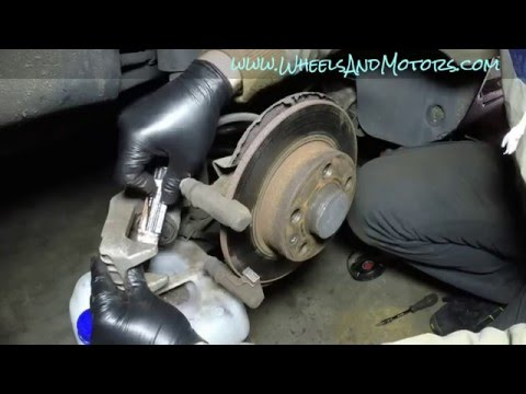 How to replace rear brake pads and discs VW Golf Mk4, Audi A3