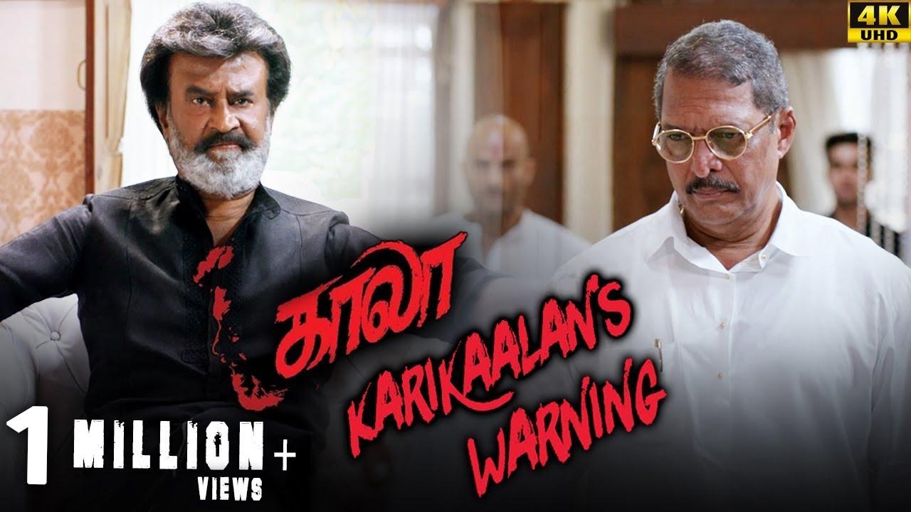 Download Kaala (Tamil) - Karikaalan's Warning   Rajinikanth   Nana Patekar   Huma Qureshi   4K [with Subs]