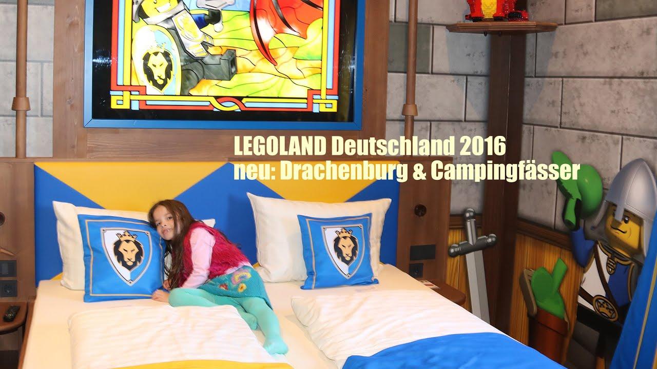 legoland deutschland 2016 news liya testet neue drachenburg campingf sser youtube. Black Bedroom Furniture Sets. Home Design Ideas