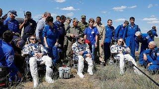 عودة ثلاثة رواد فضاء من محطة الفضاء الدولية إلى الأرض    18-6-2016