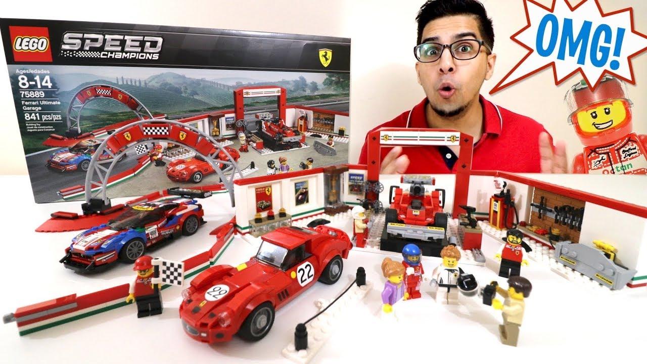 UNBOXING \u0026 LETS BUILD! , Ferrari Ultimate Garage , 75889