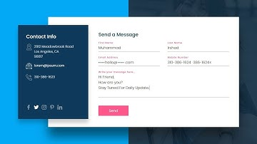 Creating an Impressive Contact Us Page using Html5 & CSS3| Floating Placeholder CSS3