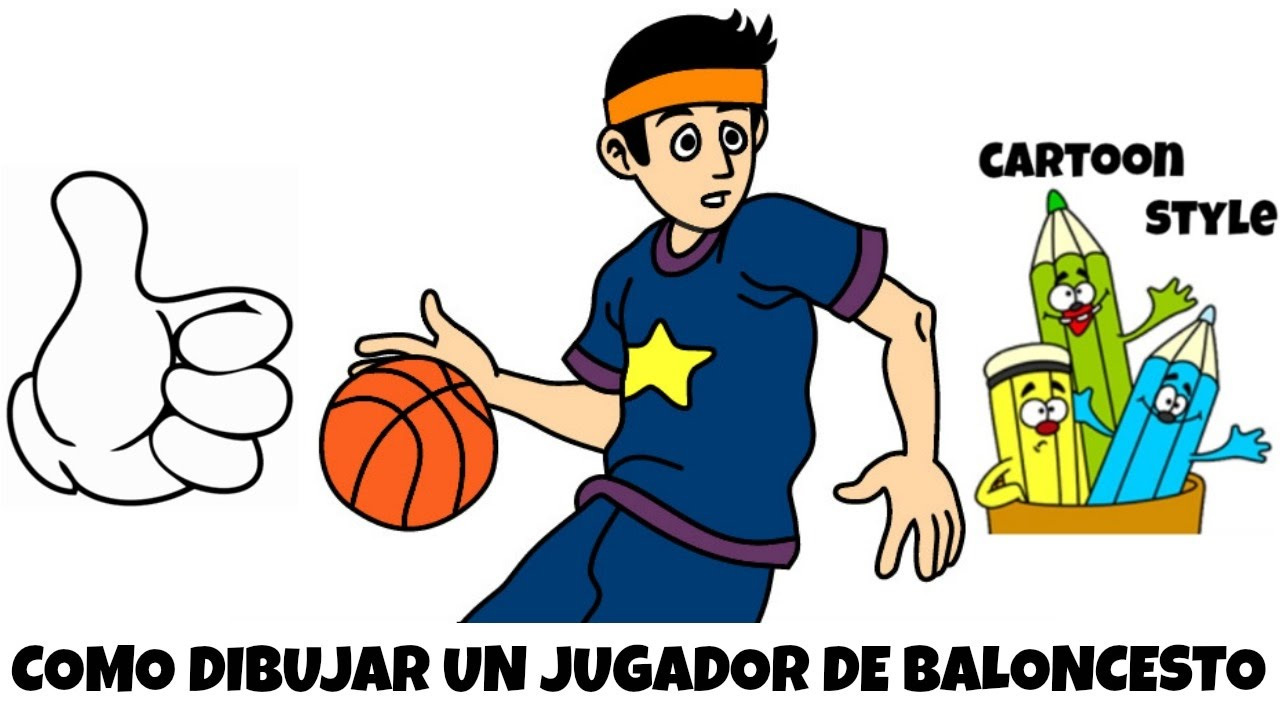 Como Dibujar un Jugador de Baloncesto - How to Draw a Basketball ...