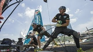 capsizing and crashing extreme sailing series 2014