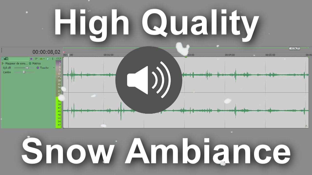 Snow ambiance Sound effect high quality / Environment HQ free sound effects / Relaxing Atmosphere