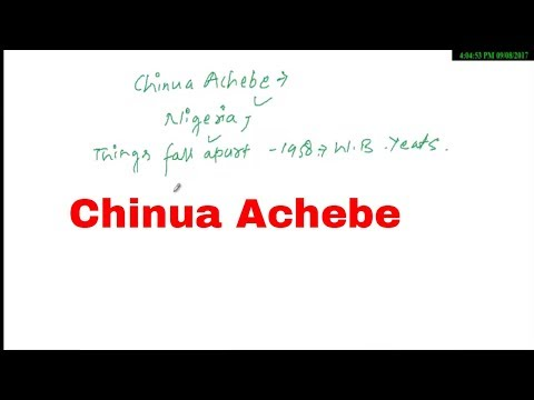 Chinua Achebe African writer Important works ||English Liter
