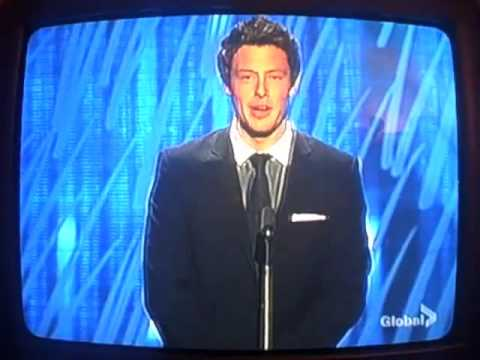 Cory Monteith Presenting At The Gemini Awards