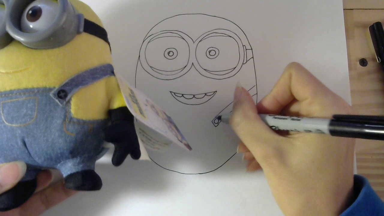 Cách vẽ minion – How to draw a monion: step by step tutorial