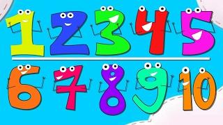 Учимся считать до 10. Учим цифры. Развивающий мультфильм. Математика. Подготовка к школе.