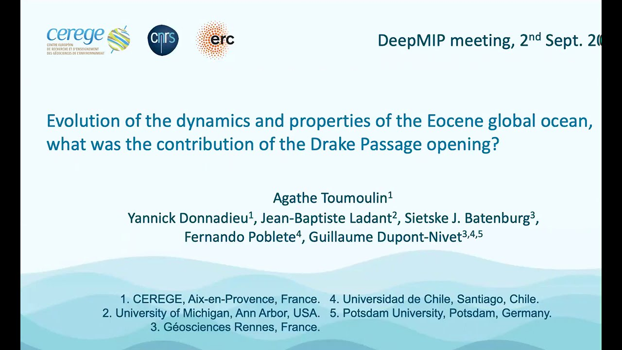 Talk at DeepMIP 6th meeting!