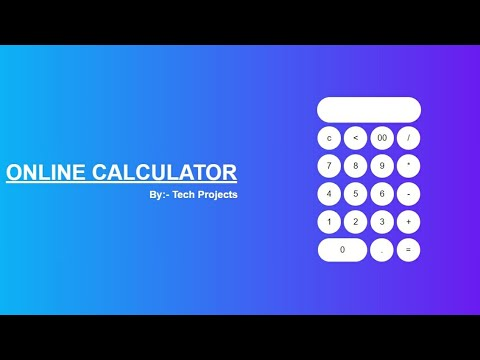 How To Make Calculator Using Html   And Css Only | Tech Projects