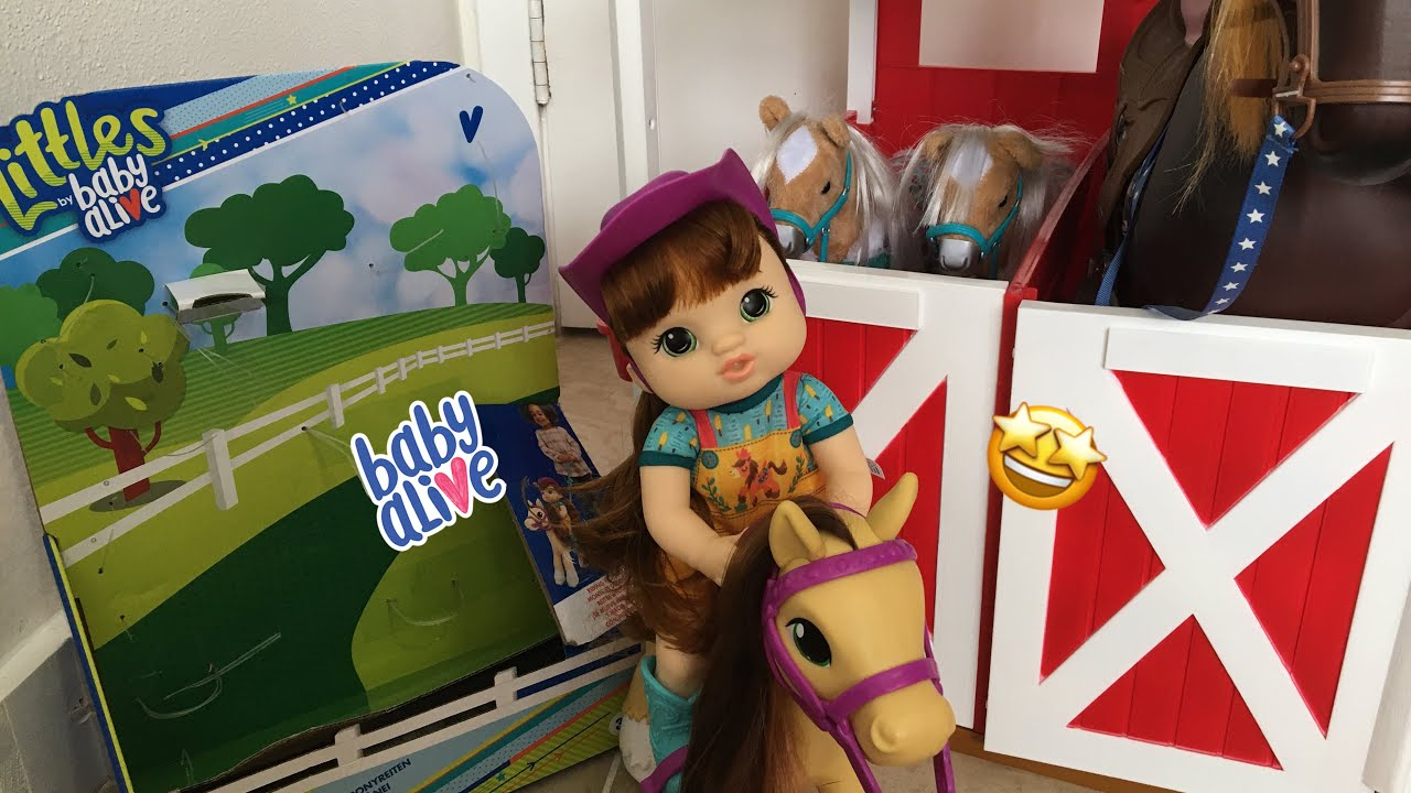 BABY ALIVE NEW Lil pony ride doll unboxing!