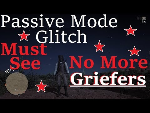 How To Passive Mode Glitch Red Dead Redemption 2 Online Hunt Unbothered, Never Worry About Griefers thumbnail