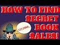 How To Find Secret Book Sales - Selling Books Online With Amazon FBA