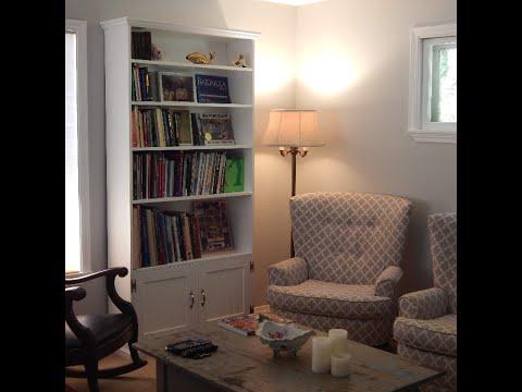 DIY tall book shelf
