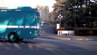 2011警視庁年頭部隊出動訓練 機動隊車両部隊