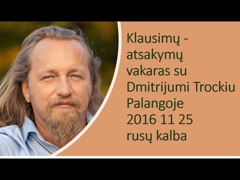 Dmitrijaus Trockio paskaita Palangoje (2016 11 25)