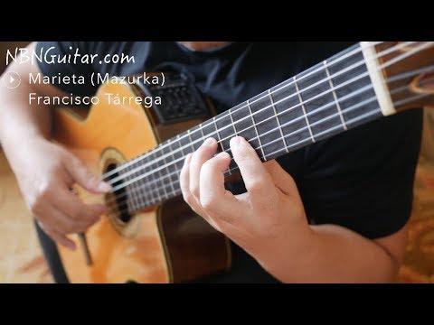 Marieta (Mazurka) | Francisco Tárrega | Classical Guitar | NBN Guitar
