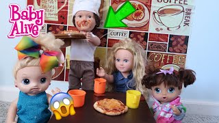 BABY ALIVES Go To The Restaurant  baby alive videos