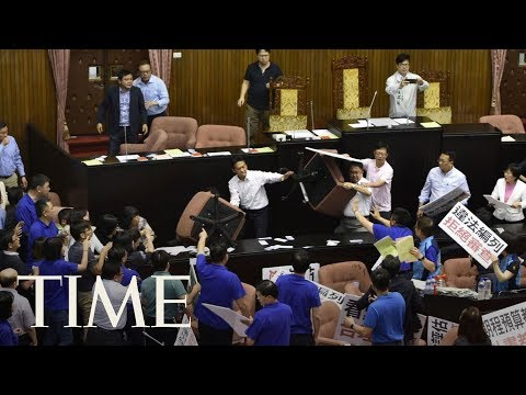 Download Youtube: Another Brawl Broke Out In Taiwan's Parliament, Fights Between Legislators Are Common | TIME