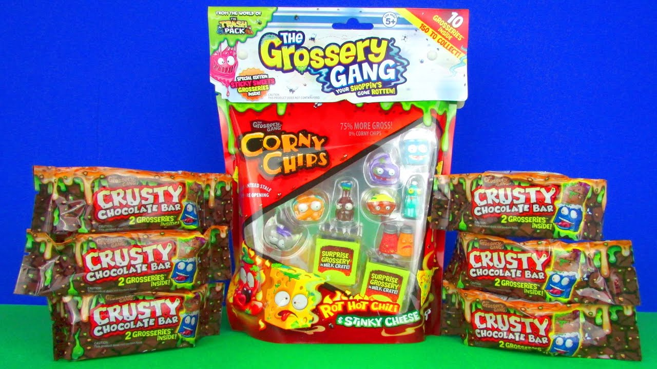 The Grossery Gang Surprises Opening Corny Chips 10 Pack