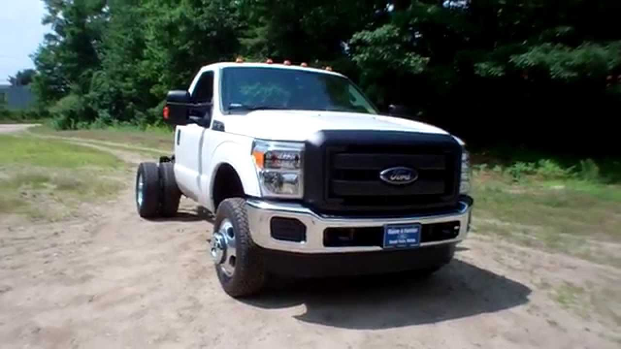 new 2015 ford f 350 4x4 chassis cab cab and chassis for sale in maine youtube. Black Bedroom Furniture Sets. Home Design Ideas