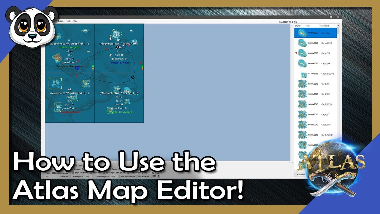 How to Use the Atlas Map Editor