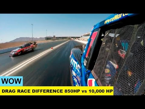 WOW. Drag Race The Difference Between 850HP vs 10,000 HP.