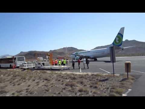 Voo Inaugural Da Transavia Aeroporto Cesaria Evora Sao Vicente